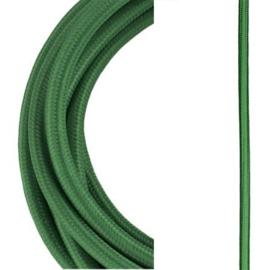 Bailey textielsnoer 2 x 0,75 mm² 3 meter kleur donker groen