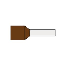 Adereindhuls 10.0 mm² geïsoleerd 12 mm bruin AHBR10.00N