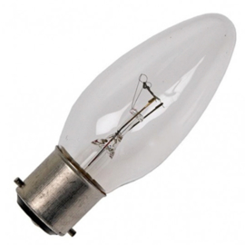 GBO standaard marine  kaarslamp C35 helder 40 Watt Ba22d