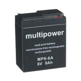 Multipower Loodgel Accu 6.0 Volt 9.0 Ah