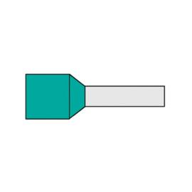 Adereindhuls 0.34 mm² geïsoleerd 6 mm turquoise AHT0.34N