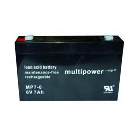Multipower Loodgel Accu 6.0 Volt 7.0 Ah