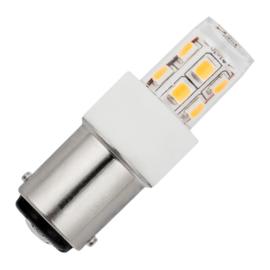 GBO LED buislamp T17x47mm helder 2 Watt Ba15d 827 2700K ND
