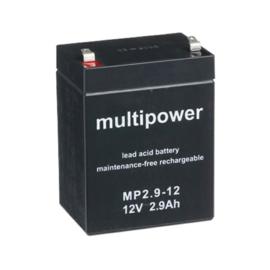 Multipower Loodgel Accu 12.0 Volt  2.9Ah