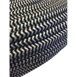 Textielsnoer 2 x 0,75 mm² zwart-wit 10 meter
