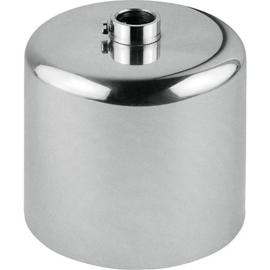 GBO plafondkap cylinder chroom