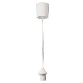 GBO snoerpendel 0.8 meter wit E14 met kapfitting en plafondkap