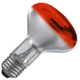 Osram reflectorlamp R80 60  Watt E27 rood