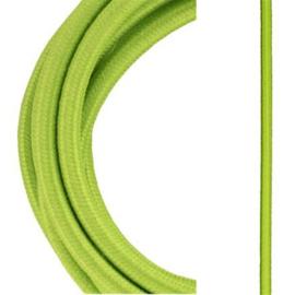 Bailey textielsnoer 2 x 0,75 mm² 3 meter kleur licht groen