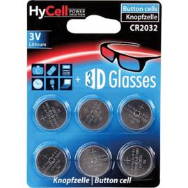 HyCell 6 stuks Lithium knoopcellen CR2032  3.0 Volt