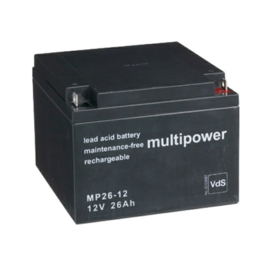 Multipower Loodgel Accu 12.0 Volt 26.0 Ah met VdS-Keur
