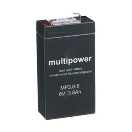 Multipower Loodgel Accu 6.0 Volt 3.8 Ah