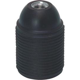 GBO fitting E27 zwart kunststof buitendraad
