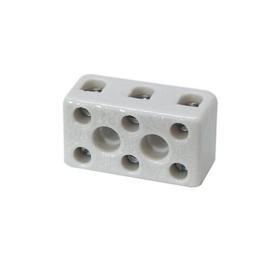 GBO kroonsteen porselein 4 mm² 3  voudig 450 Volt 32 Ampère 350°C