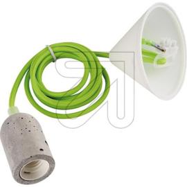 GBO snoerpendel groen E27 fitting betonlook