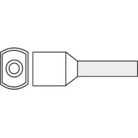 Twin adereindhuls 0.75 mm² geïsoleerd 8 mm wit TAHW0.75N