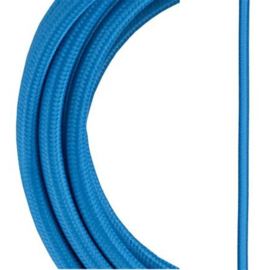 Bailey textielsnoer 2 x 0,75 mm² 3 meter kleur blauw
