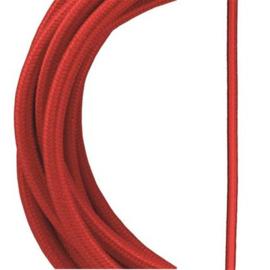 Bailey textielsnoer 2 x 0,75 mm² 3 meter kleur rood