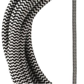 Bailey textielsnoer 3 x 0,75 mm² 3 meter kleur zwart/wit