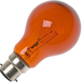 GBO haardvuurlamp standaard gloeilamp A60  helder rood 60 Watt Ba22d