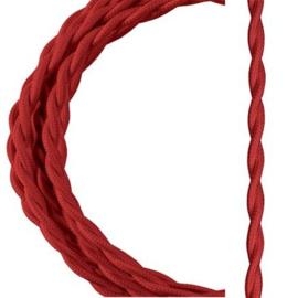 Bailey textielsnoer gedraaid 2 x 0,75 mm² 3 meter kleur rood
