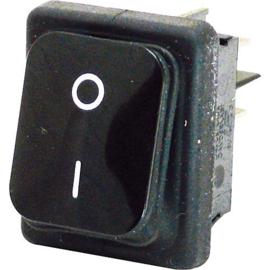 GBO inbouw wipschakelaar 2 polig zwart 0-1 IP65