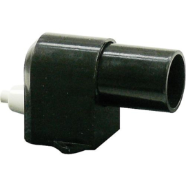 GBO kunststof kastfitting E14 haaks zwart met schakelaar