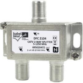 Hirschmann DFC 2104 verdeler 2 voudig met F connector
