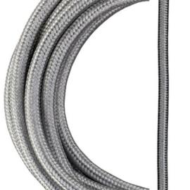 Bailey textielsnoer metallic 2 x 0,75 mm² 3 meter kleur zilver