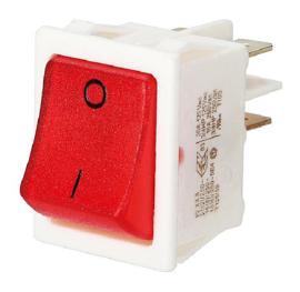 GBO inbouw wipschakelaar 2 polig wit + controle rood 0-1