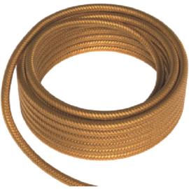 GBO textielsnoer 2 x 0,75 mm² kleur goud per meter