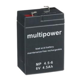 Multipower Loodgel Accu 6.0 Volt 4.5 Ah