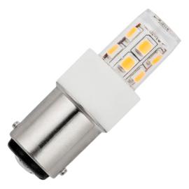 GBO LED buislamp T14x47mm helder 2.3 Watt Ba15d 827 2700K ND