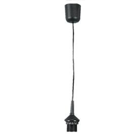 GBO snoerpendel 1.2 meter zwart E27 met kapfitting en plafondkap