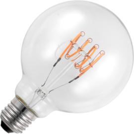 GBO LED Transversaal Spiraal Globe lamp G95 E27 helder 4.5 Watt 922 DB