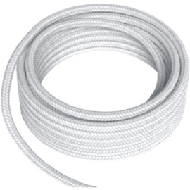 GBO textielsnoer 2 x 0,75 mm² kleur wit per meter
