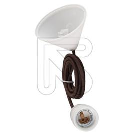 GBO snoerpendel bruin en E27 fitting porselein