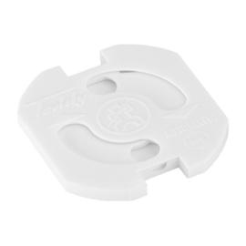 Teddy stopcontact beveiliger kleur wit set à 5 stuks