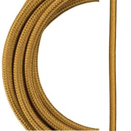 Bailey textielsnoer metallic 2 x 0,75 mm² 3 meter kleur goud