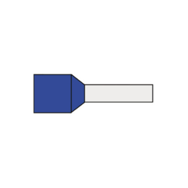 Adereindhuls 0.75 mm² geïsoleerd 6 mm blauw AHB0.75K