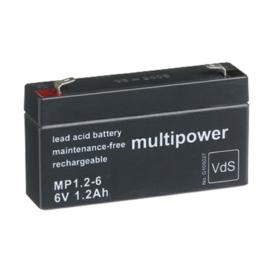 Multipower Loodgel Accu 6.0 Volt 1.2 Ah