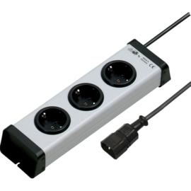 GBO tafeldoos 3 voudig mra met IEC stekker en aardlekbeveiliging