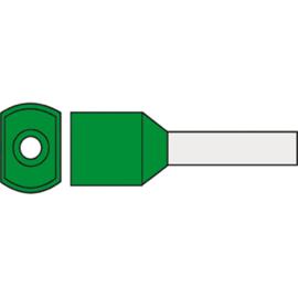 Twin adereindhuls 6.0 mm² geïsoleerd 14 mm groen TAHGR6.00N