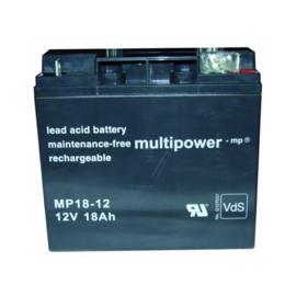 Multipower Loodgel Accu 12.0 Volt 18.0 Ah met VdS-Keur