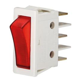 GBO inbouw wipschakelaar 1 polig wit controle rood