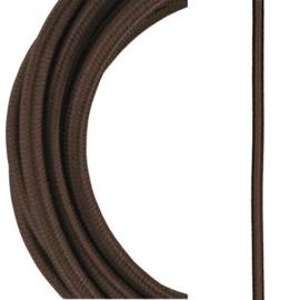 Bailey textielsnoer 2 x 0,75 mm² 3 meter kleur bruin