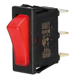GBO inbouw wipschakelaar 1 polig zwart controle rood