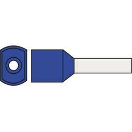 Twin adereindhuls 2.50 mm² geïsoleerd 10 mm blauw TAHB2.50N