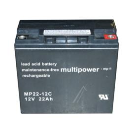 Multipower Loodgel Accu 12.0 Volt 22.0 Ah met VdS-Keur