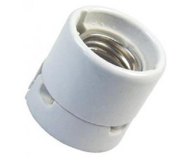 Bailey opbouw  lamphouder E27 porselein wit